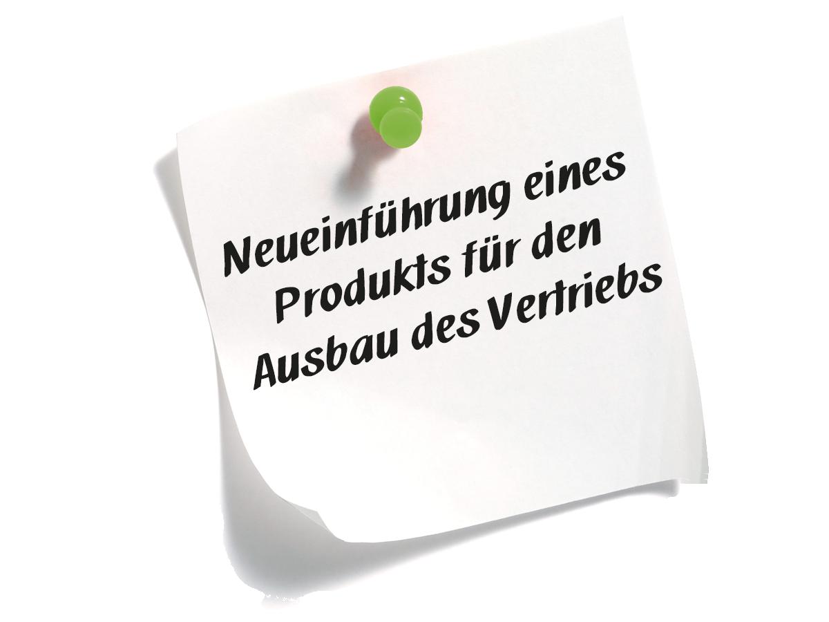 Neueinführung eines Produkts für den Ausbau des Vertriebs